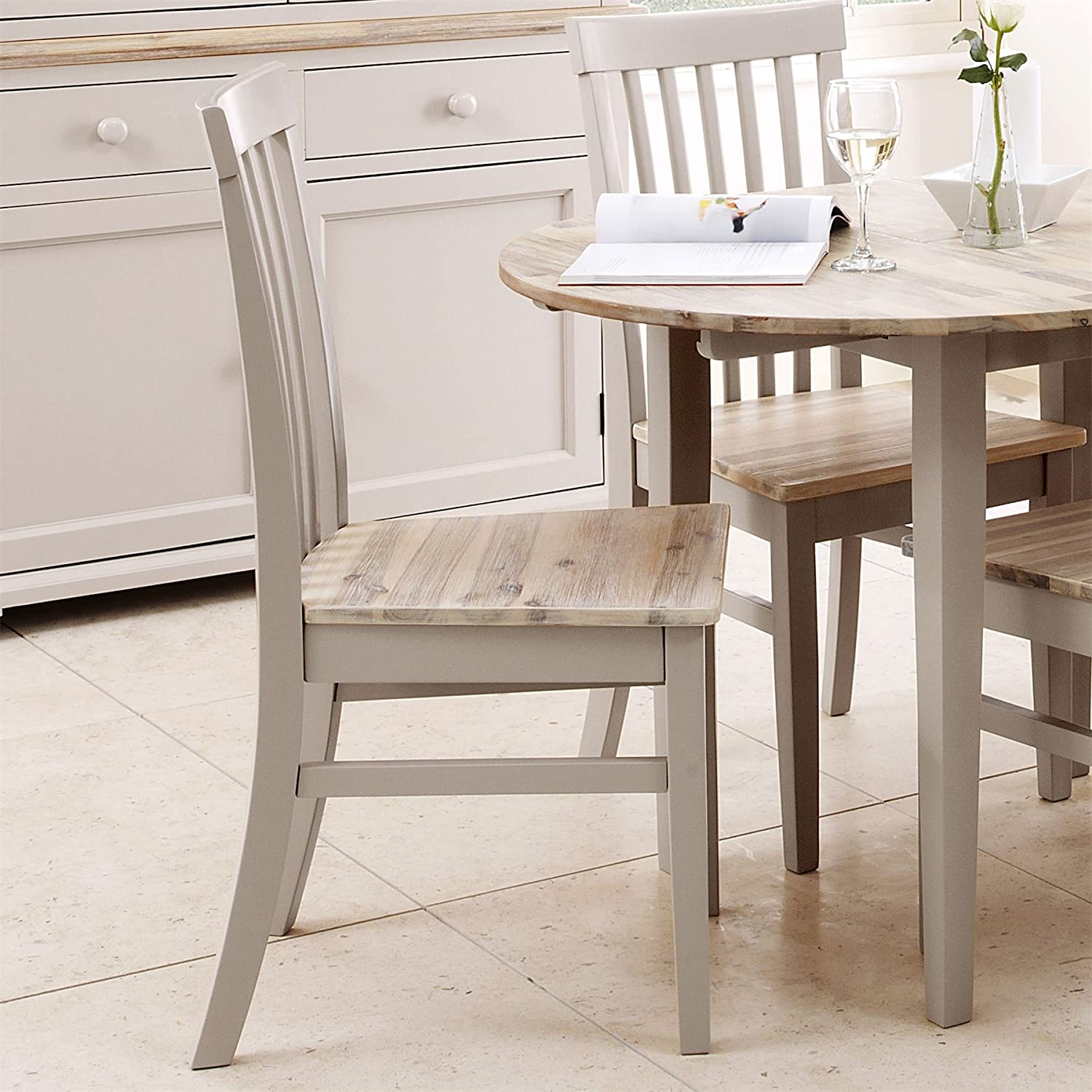 Florence High back chair. Dining chair with wooden seat in Truffle colour. Kitchen chair Statement Furniture