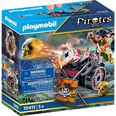 Playmobil Pirate with Cannon 70415 Pirates Playset: Toys & Games