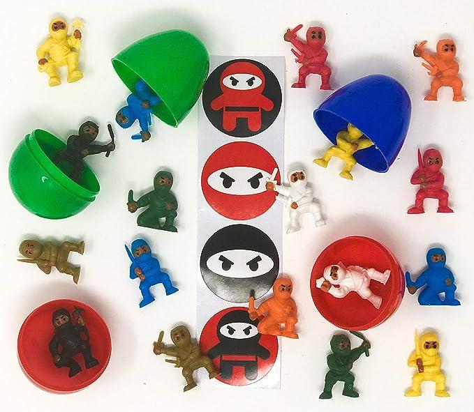 Amazon.com: 25 Filled Plastic Easter Eggs 50 Mini Ninja ...