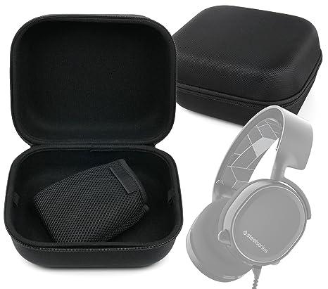 DURAGADGET Large Matte Black Tough EVA Storage Carry Case for The  SteelSeries Arctis 3 | Arctis 5 | Arctis 7 | Arctis Pro | Arctis Pro  Wireless Gaming