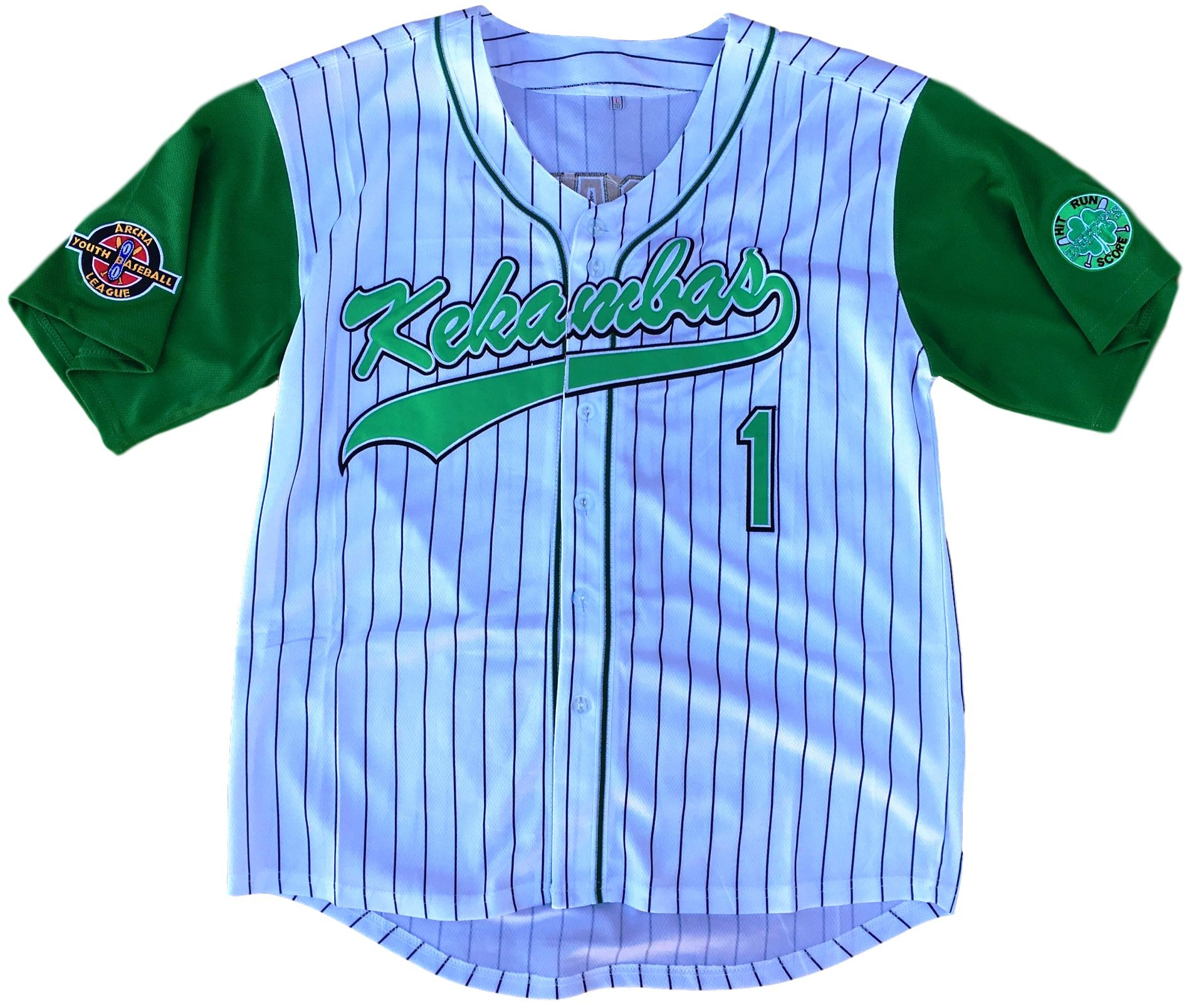 MVG ATHLETICS G-Baby Hardball Kekambas Movie Baseball Jersey #1 Embroidered S-XXL (Large) by MVG ATHLETICS