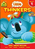 School Zone - Little Thinkers First Grade Workbook - 64 Pages, Ages 6 to 7, 1st Grade, Math, Reading, Logic, Skip…