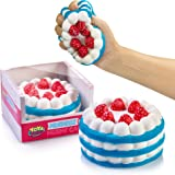 Stress Relief Squishy Cake By YoYa Toys - Strawberry Cake Design - Super Slow Rising, Soft, Relaxing, Anti-Anxiety Squeeze & Fidget Toy For Kids & Adults - Scented Hand Rest Pillow - Gift Box Pack
