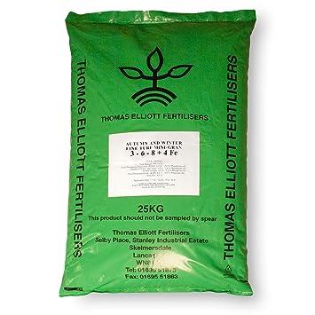25 kg Moss Top Fertiliser 6-5-10+6Fe Control Moss and Help Grass Growth