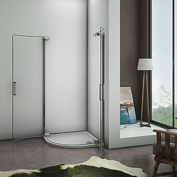 Mampara de ducha redonda ducha cuarto circular (Puerta Corredera Puerta de ducha: Amazon.es: Bricolaje y herramientas