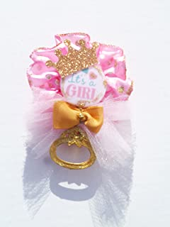 Royal Princess Baby Shower Corsage For Mother Girl (Itu0027s A Girl Shaker Pink  And