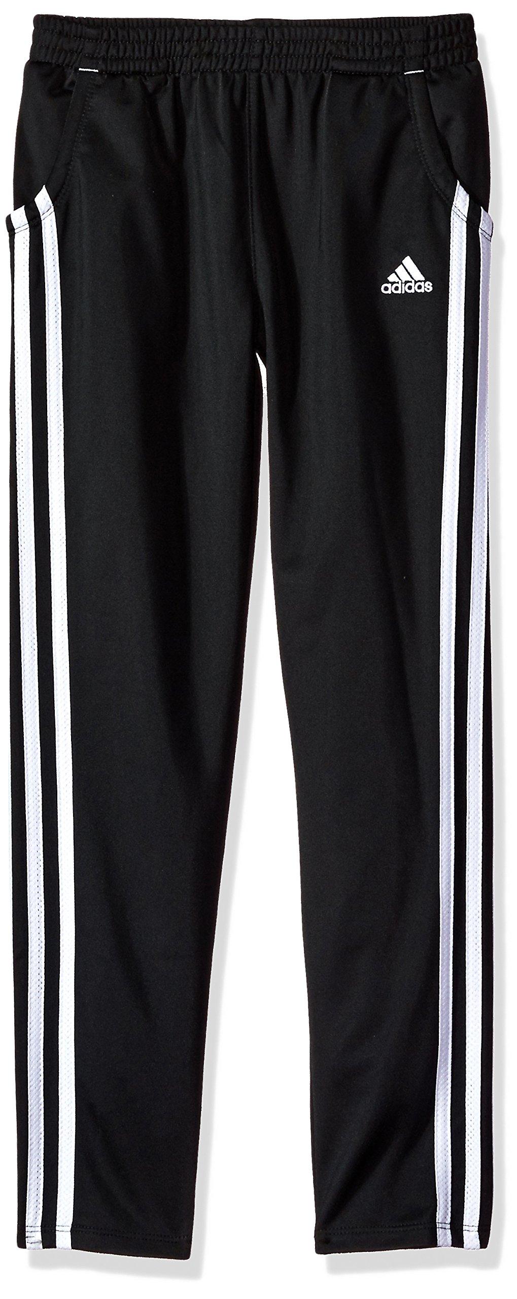adidas Girls' Big Warm Up Tricot Pant, ADI Black, S (7/8) by adidas