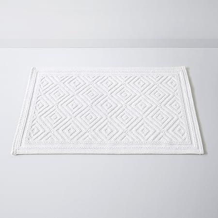 La Redoute Interieurs Tapis De Bain Caire Motif En Relief Coton 1500 Gm 50 X 80 Cm Bianco Amazon Fr Cuisine Maison