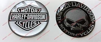 Adhesivos resinados con el emblema/logotipo de Harley Davidson, logotipo clásico con calavera,