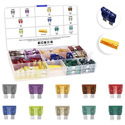 MulWark 120pc Assorted Standard Auto Car Truck Blade Fuses Set-2A 3A 5A 7.5A 10A 15A 20A 25A 30A 35A-ATC/APR/ATO/ATS Automotive Spare Replacement Fuse Assortment Kit for Boat,Marine,RV,SUV,Trike [5Bkhe0400230]