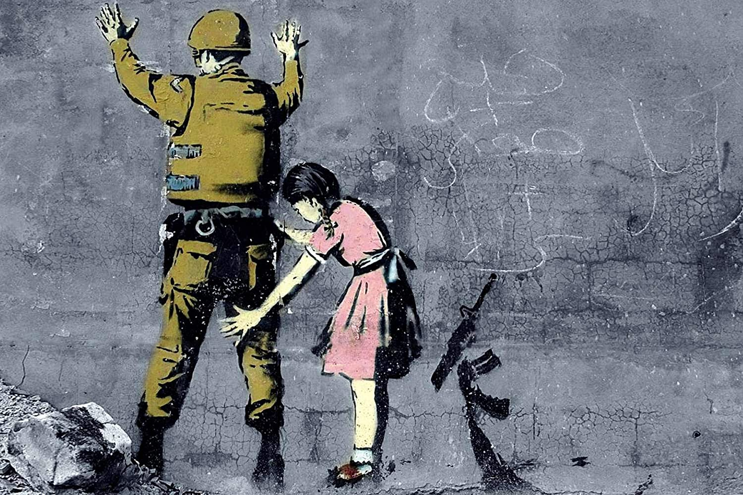 Banksy Street Art Print poster photo paper painting for glass frame 36/""