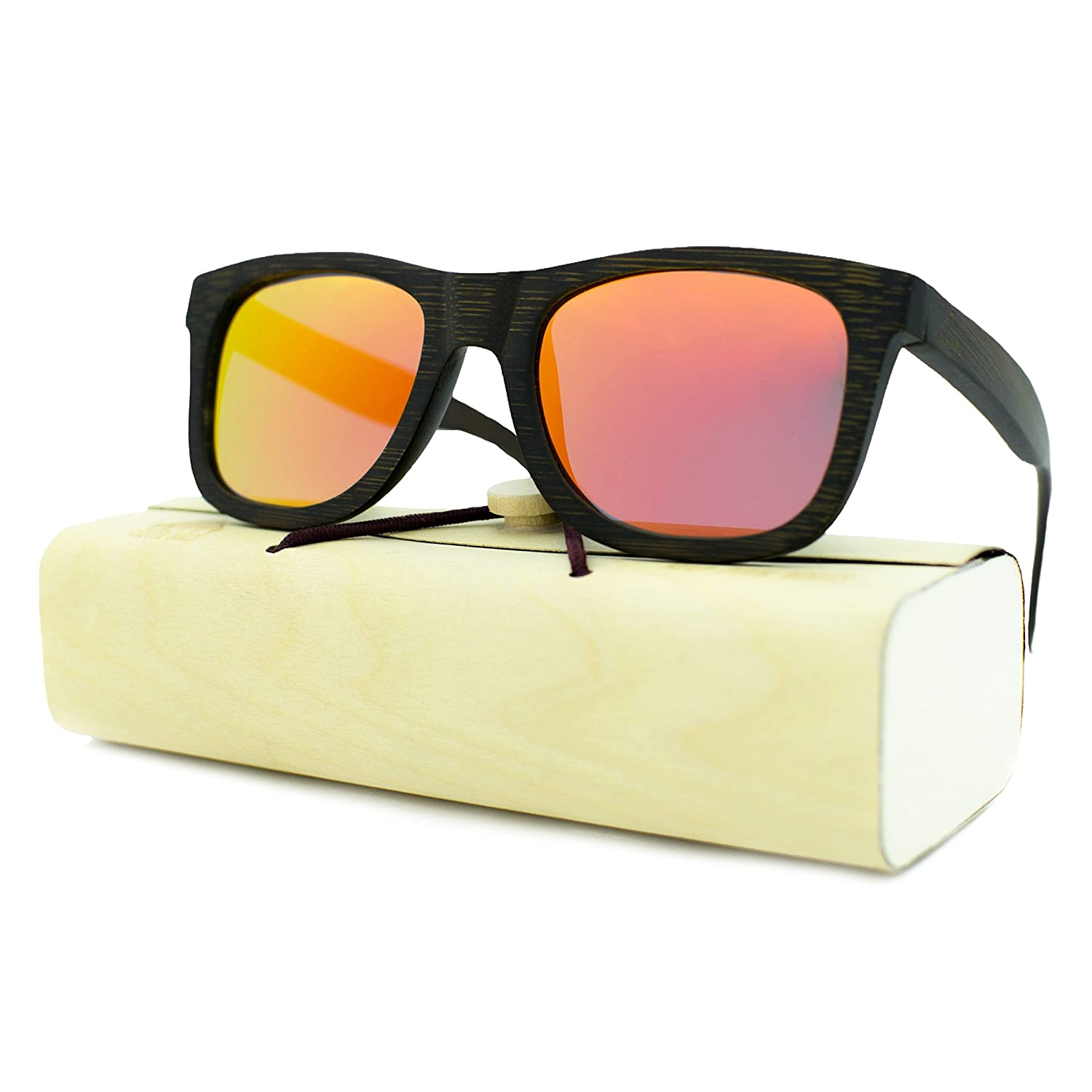 45a94bbe15 Amazon.com: Handcrafted Wooden Sunglasses for Men & Women, Polarized Lens,  Perfect Gift: Shoes