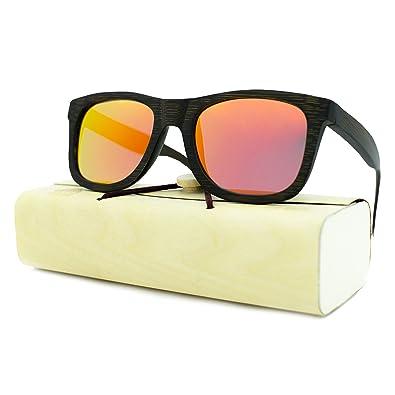 3465ef0495 Amazon.com  Handcrafted Wooden Sunglasses for Men   Women