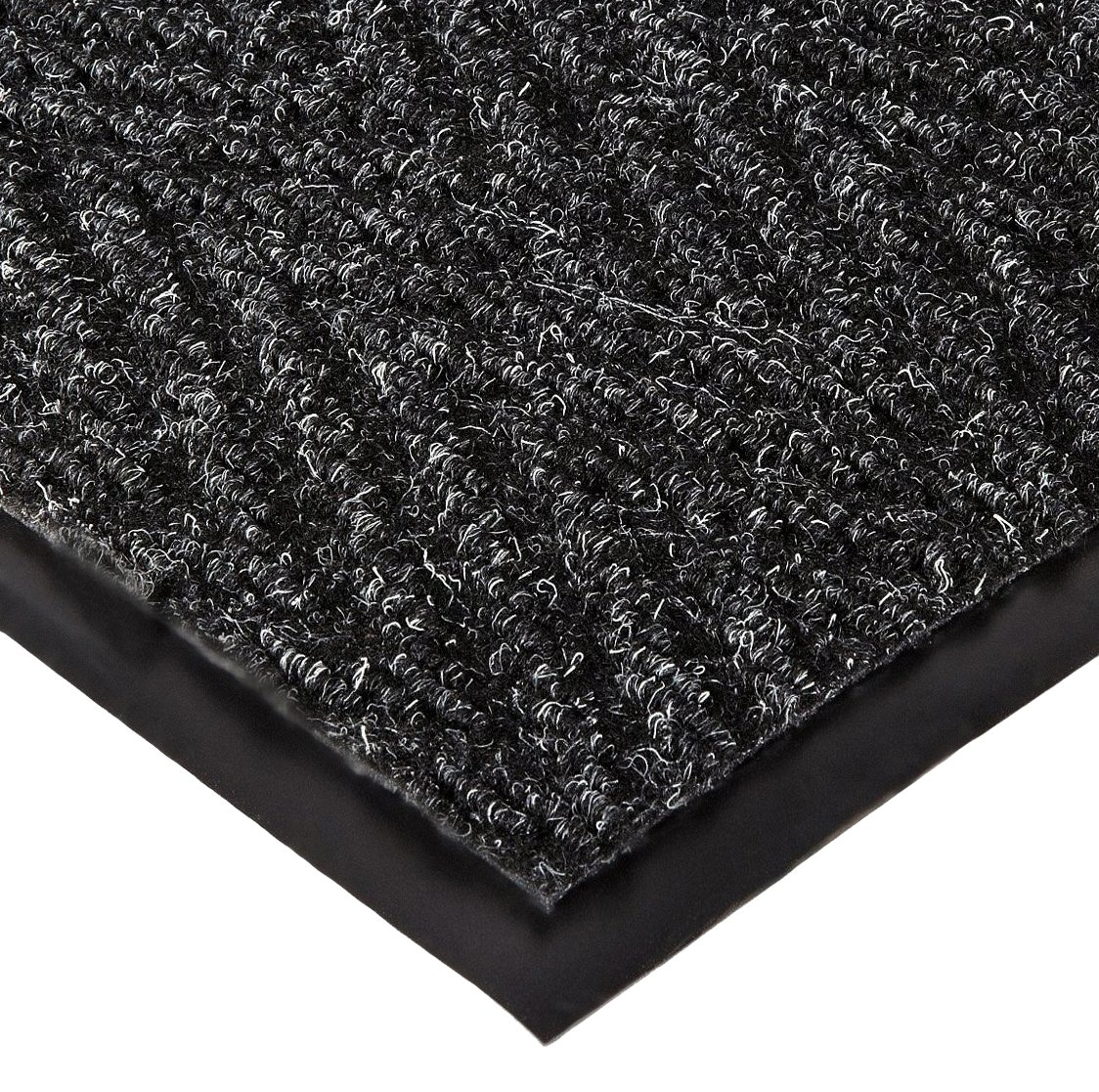 NoTrax 105 Chevron Entrance Mat, for Lobbies and Indoor Entranceways, 3' Width x 5' Length x 5/16'' Thickness, Charcoal