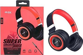 MTK® Auriculares con Micrófono Estéreo Auriculares Cerrado Headphone Super Bass para Smartphone Iphone Tablet PC Longitud del cable 1,2m K3451R: Amazon.es: Electrónica