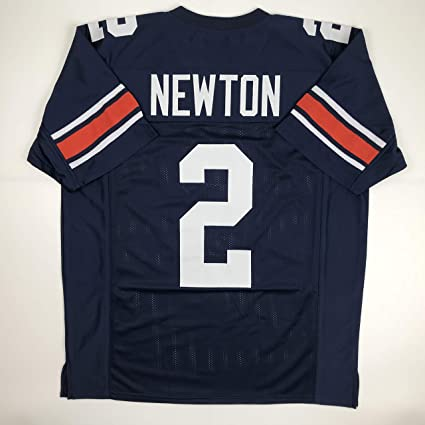 Amazon.com  Unsigned Cam Newton Auburn Blue Custom Stitched College ... 4e56de649