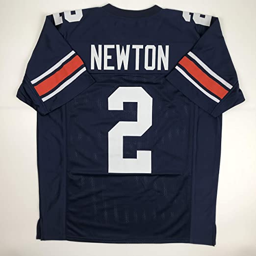 new style 58fc5 e1cd7 Amazon.com: Unsigned Cam Newton Auburn Blue Custom Stitched ...