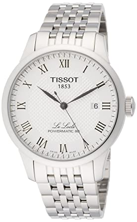 3ab8bed59 Amazon.com: Tissot Men's Le Locle Powermatic 80 - T0064071103300  Silver/Grey One Size: Tissot: Watches