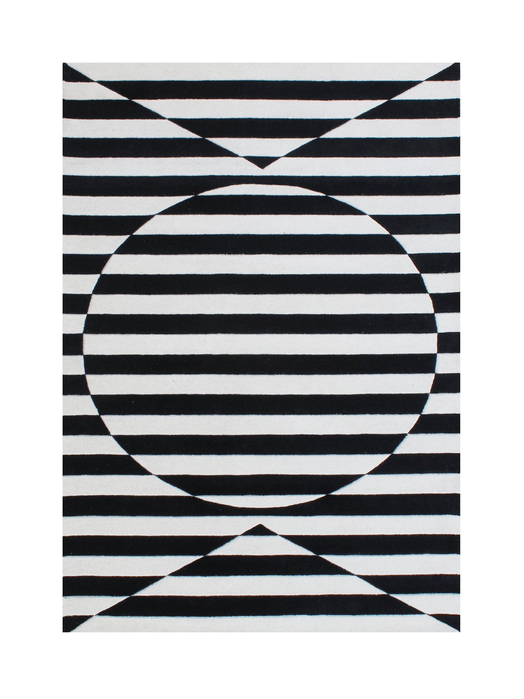Git Mit Home AY733-5x8 Area Rugs, 5'x 8' , Black, Off White