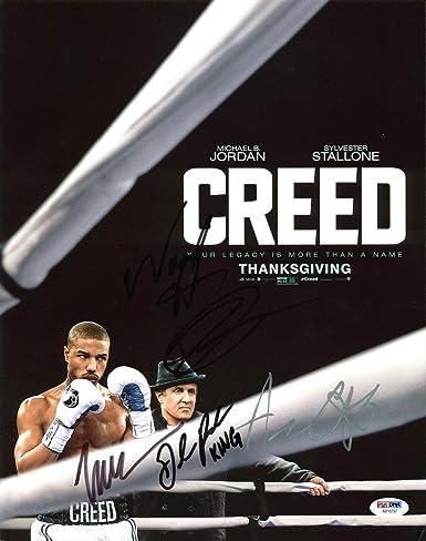 Creed Wood Harris Gabe Rosado 3 Signed 11x14 Photo Ab10797