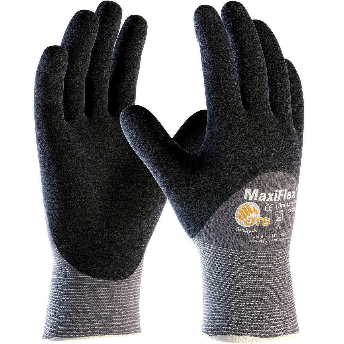 Knit Nylon//Lycra Gloves Fingers /& Knuckles CPreston Interests Nitrile Coated Micro-Foam Grip on Palm
