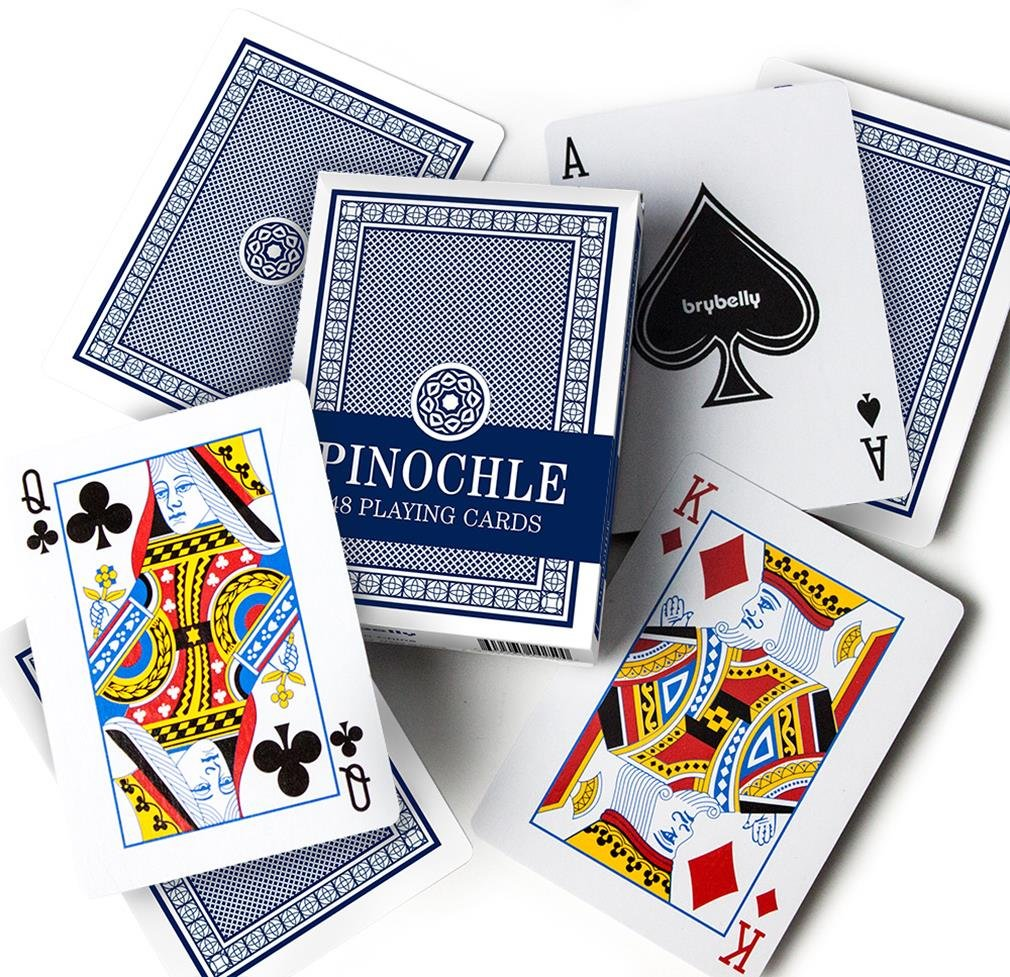 Brybelly Pinochle Playing Cards (Pack of 12), Red/Blue by Brybelly (Image #3)