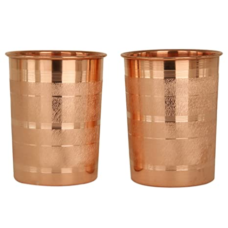 Amazon.com | JaipurCrafts Copper Glass Tumbler, Serveware ...