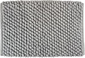 DII Ultra Soft Chunky Chenille Microfiber Memory Foam Spa Bath Rug, Luxury & Absorbent, Place Near Vanity, Bath Tub or Shower for Bathroom, Dorm Room, and Other More Humidity Use, 17x24 - Gray