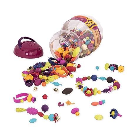 4719fe434aa1 Amazon.com  B Toys - (500-Pcs) Pop Snap Bead Jewelry - DIY Jewelry Kit for  Kids  Toys   Games