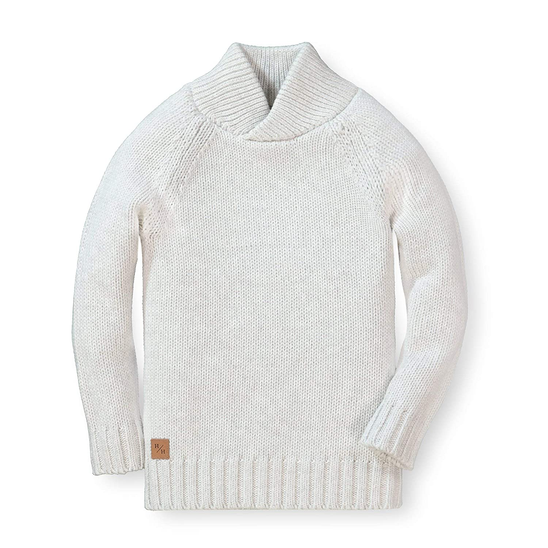 Hope /& Henry Boys Raglan Sweater with Crossed Collar