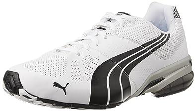 216ec1e6d1db Puma Men s Cell hiro DP White-Black-Puma Silver Running Shoes - 9 UK ...