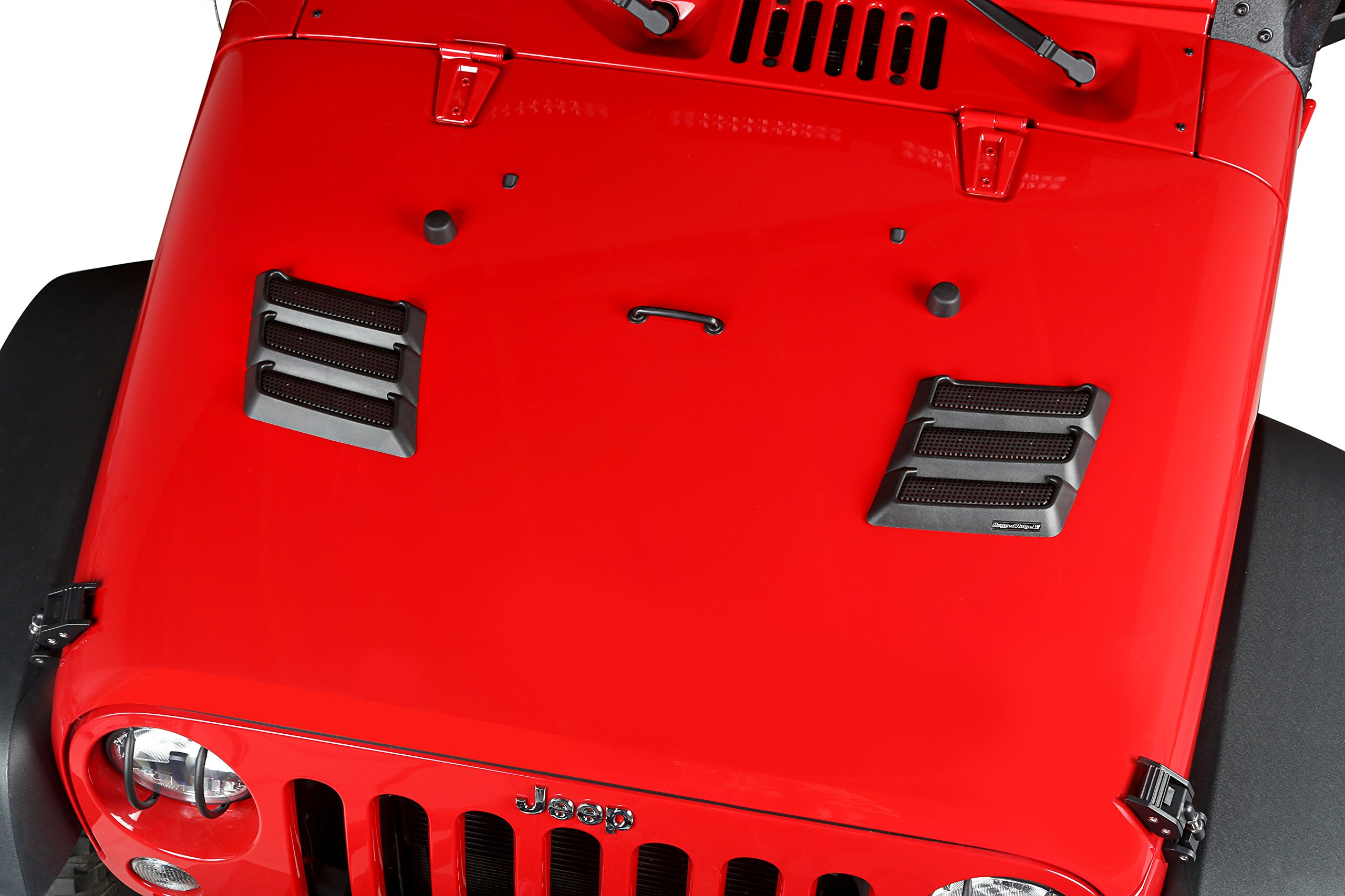 Rugged Ridge 17759.09 Black Performance Hood Vent for Jeep JK Wrangler by Rugged Ridge (Image #4)