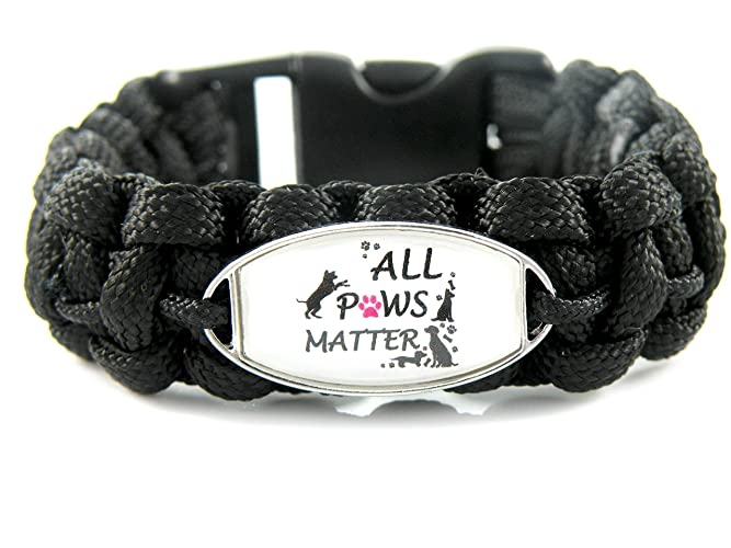 d6f8a14b0a9 Image Unavailable. Image not available for. Color: All Paws Matter Paracord  Bracelet