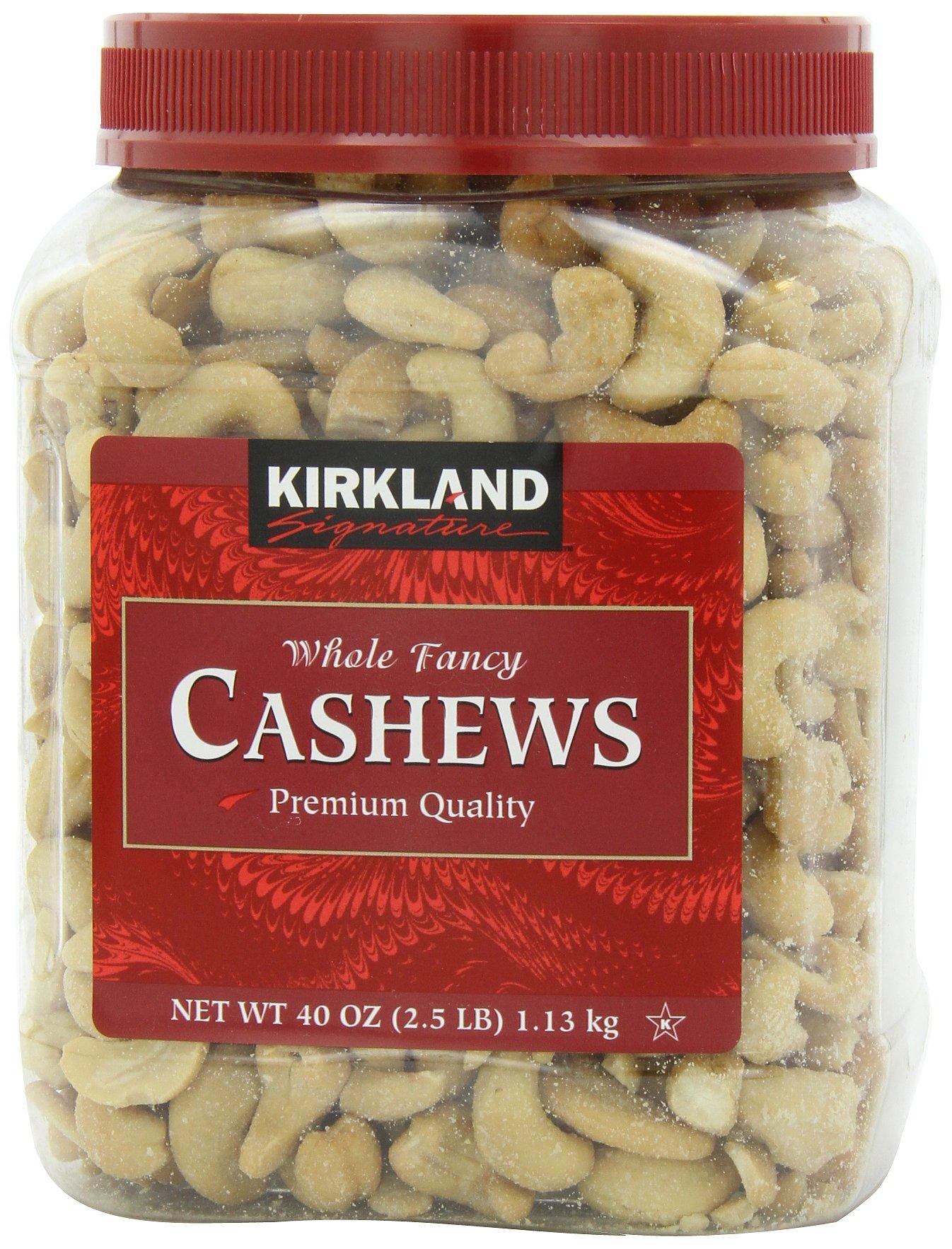 Kirkland Signature Cashews, 40 Ounce (2.5 lbs)