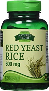 Nature's Truth Red Yeast Rice 600 mg, 120 Count