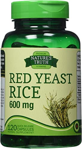 Nature s Truth Red Yeast Rice 600 mg, 120 Count
