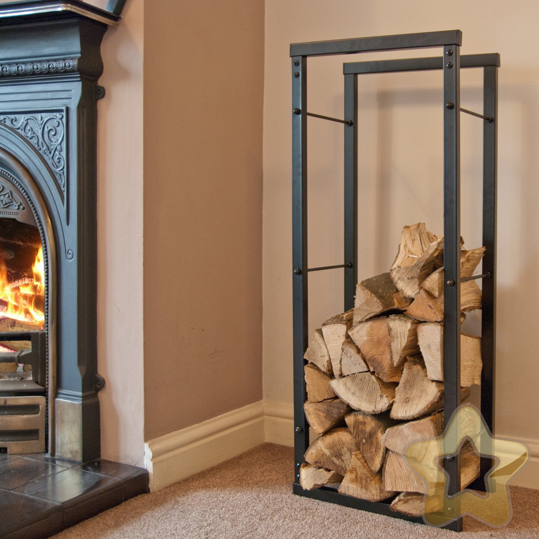 made o u0027 metal ultra steel indoor home fireplace fire log basket