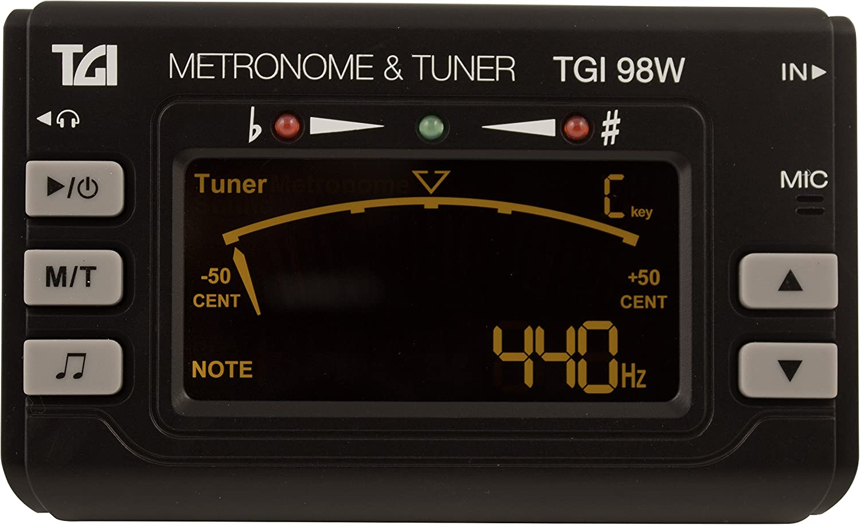 TGI tgi98W Woodwind y latón para afinador con metrónomo