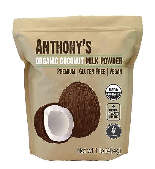 Anthony's Organic Coconut Milk Powder, 1lb, Gluten Free, Vegan & Dairy Free