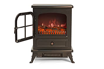 Igenix Ig9430 Freestanding Electric Stove Fireplace Heater Log Wood