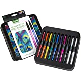 Crayola Pearlescent Paint Markers, Medium Point, Assorted Colors, Multi-Surface, 10 Count
