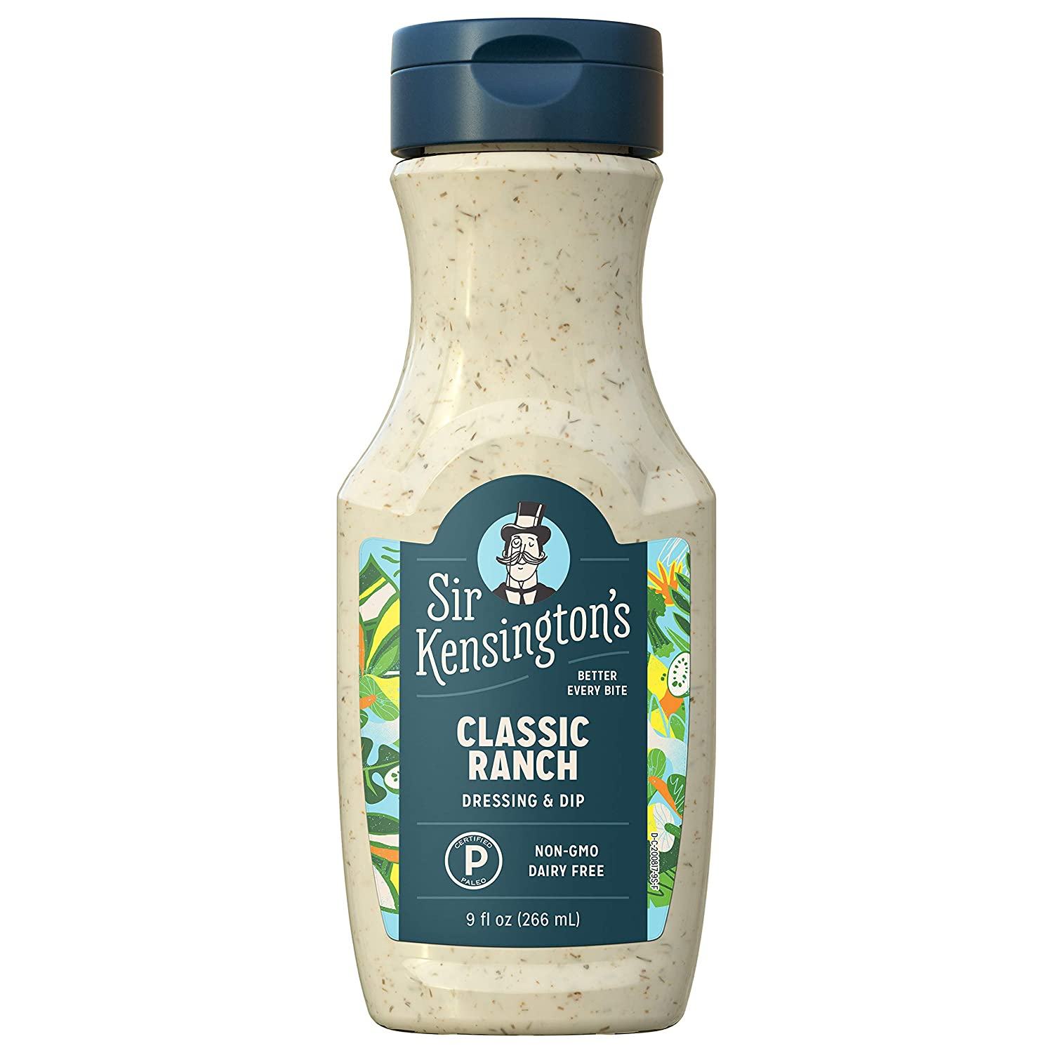Sir Kensington's Ranch Dressing and Dip, Classic Ranch, Keto Diet & Paleo Diet Certified, Dairy Free, Gluten Free, Non- GMO Project Verified, Shelf-Stable, 9 oz