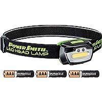 PowerSmith PHL23FRGS - Lámpara de cabeza regulable con sensor de movimiento, 230 lúmenes, con modos de iluminación blanca/verde/rojo
