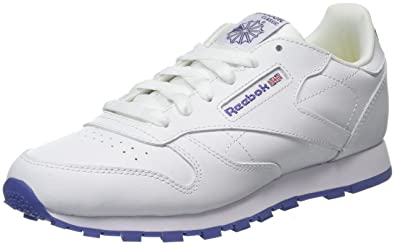 10668380c7147 Reebok Unisex-Kinder Classic Leather Sneaker Weiß (Lurex-White Lilac Shadow)