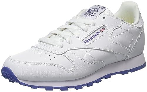 Reebok Classic Leather, Zapatillas de Running para Niñas, Blanco (Lurex White/Lilac Shadow), 34.5 EU: Amazon.es: Zapatos y complementos