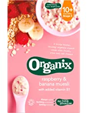 Organix - Stage 3 From 10 Months - Organic Infant Cereals - Raspberry & Banana Muesli - 200g
