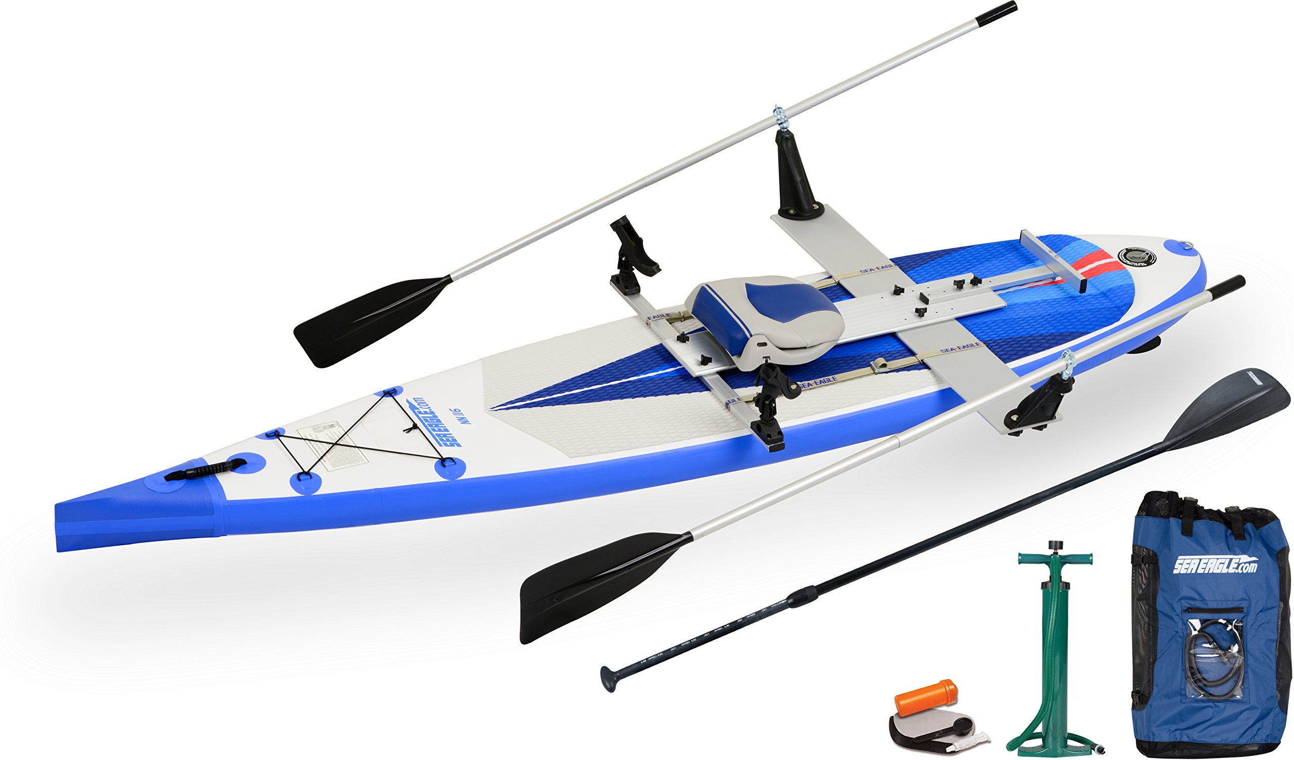 Sea Eagle NN116 NeedleNose Inflatable SUP QuikRow Package by Sea Eagle