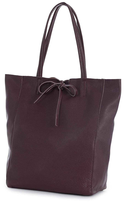 56fedbc192 LIATALIA Genuine Italian Soft Leather Leightweight Large Hobo Tote Shopper Shoulder  Handbag - ASTRID  Burgundy   Amazon.co.uk  Shoes   Bags