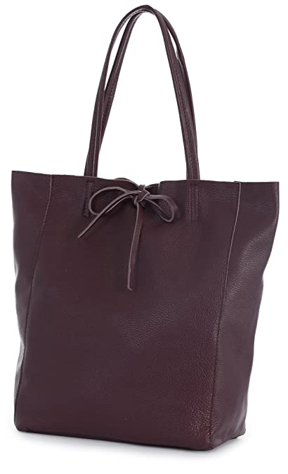 4e648ee532a LIATALIA Large Soft Shoulder Tote Bag 100% Real Italian Leather Ideal Gift  for Women - ASTRID