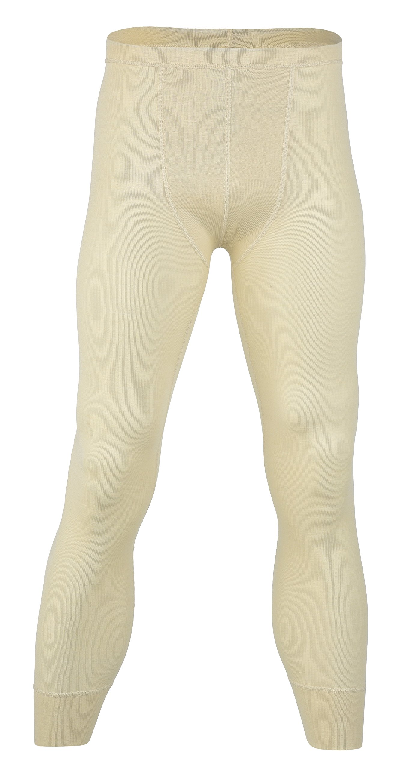 Engel 70% Organic Merino Wool 30% Silk Men's Long Johns Leggings. Made in Germany. (Natural, EU 46/48) by Engel